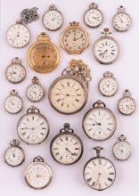 A Lot of 20 silver pocket watches, 19th-20th century