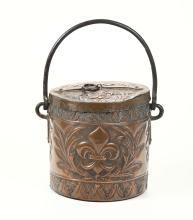 Rinfrescatoio in rame con manico d'asporto ferreo, Toscana XVII secolo,