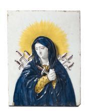Targa Manifattura fiorentina, forse Doccia, fine del XIX secolo,