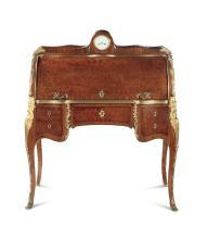 A rare pair of bureaus veneered in marquetry, France, Napoleon III period, 19th century