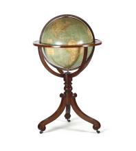 Globo terrestre, Ch. Larochette e L. Bonnefont, Istituto Geografico di Parigi, XIX secolo,