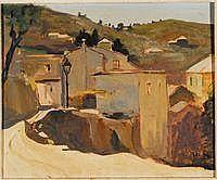 Arturo De Luca (1885-1971)Paesaggio ligureolio su