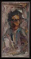 Agostino Scrofani (1931-1995)Figuraolio si tela,
