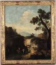 Giuseppe Zais (Forno di Canale 1709 - Treviso 1784), Paesaggio con rovine e viandanti