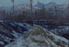 Giuseppe Sacheri (1863 - 1950), Sera d'inverno