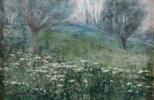 Giuseppe Sacheri (1863 - 1950), Prato a primavera
