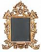 Specchiera in legno intagliato e dorato, XVIII secolo