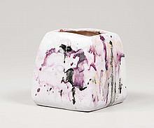 Marcello Fantoni. Vaso in ceramica smaltata. Prod.