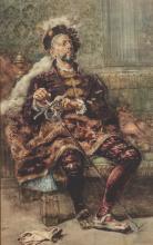 Salvator Sanchez Barbudo (1857-1917), Ritratto di cavaliere seduto