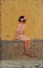 Oscar Ghiglia (1876-1945), attribuito a, Figura femminile