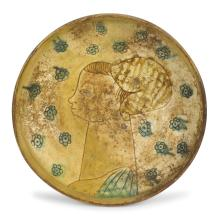A plate, Romagna (probably Faenza), late 15th century - early 16th century