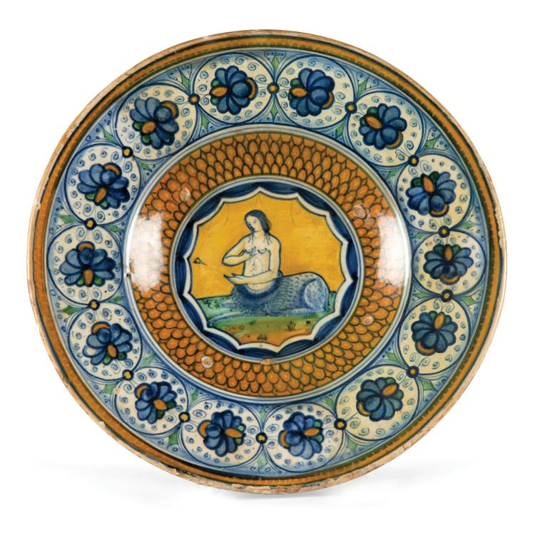 A plate, Faenza, late 15th century - early 16th century
