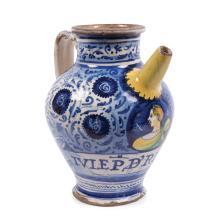 An apothecary vase, Faenza, mid 16th century
