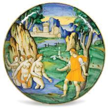A bowl, Faenza, Baldassarre Manara, circa 1535