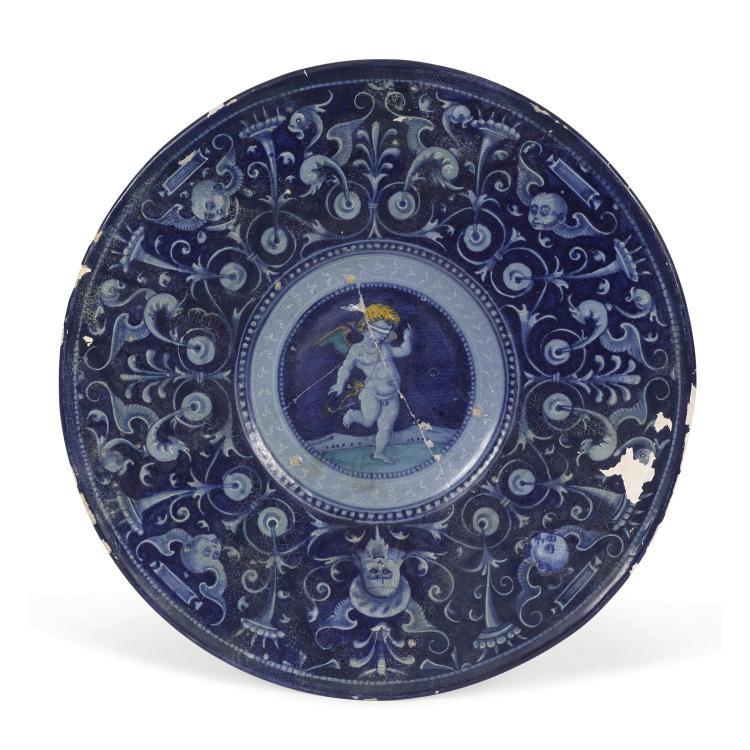 A plate, Faenza, circa 1530
