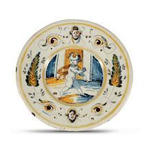 Piatto Faenza, bottega faentina degli inizi del XVII secolo,