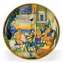 A bowl, Urbino, master of the Nicola da Urbino circle, circa 1535