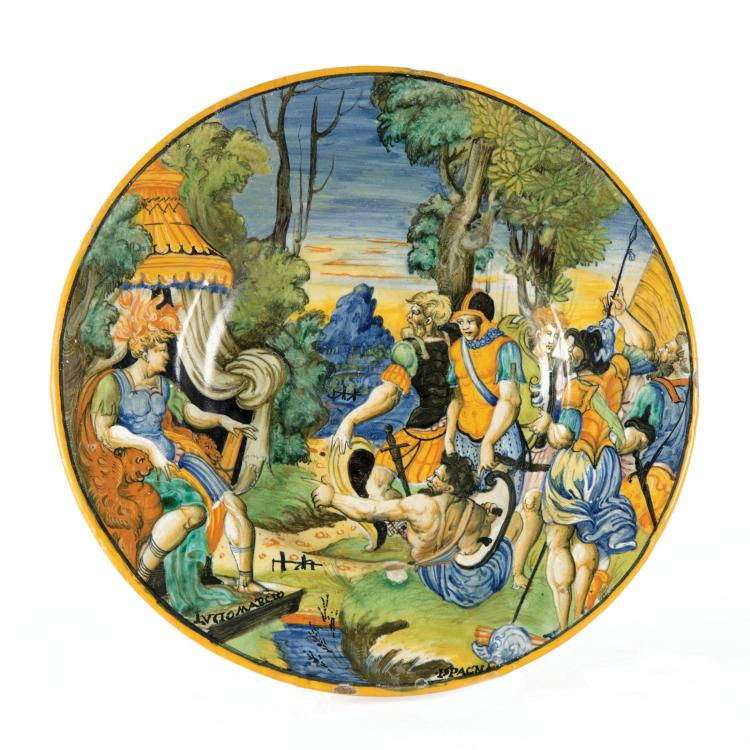 A plate, Urbino, Guido di Merlino workshop, 1542