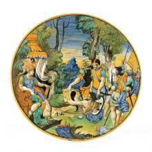 A plate, Urbino, Guido di Merlino workshop, 1542