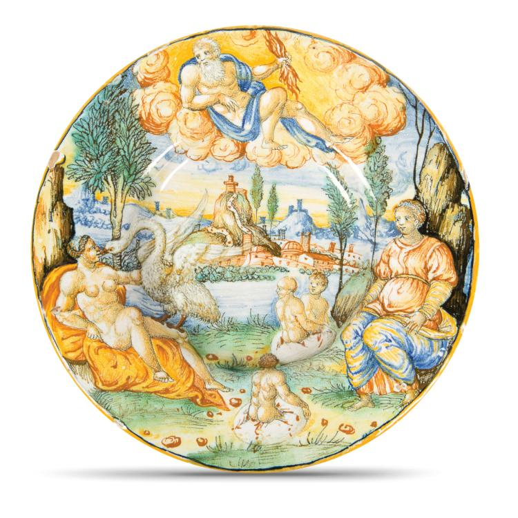 A plate, Urbino, Guido di Merlino workshop, probably Francesco Duratino or a collaborator, circa 1545