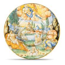 A plate, Urbino, Guido di Merlino workshop, probably Francesco Duratino or a collaborator, circa 1545