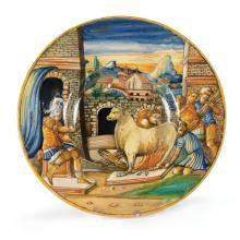 A plate, Urbino, circa 1560
