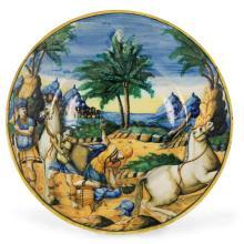 A plate, Urbino, circa 1550