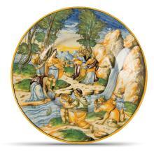 A plate, Urbino, Fontana workshop, circa 1560-70