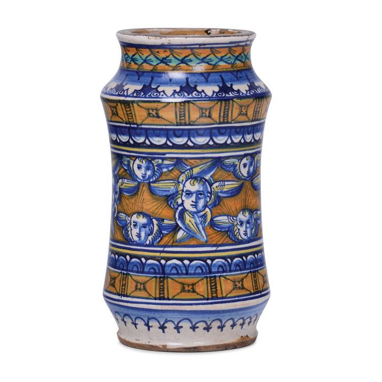 An arbarello vase, Siena, early 16th century