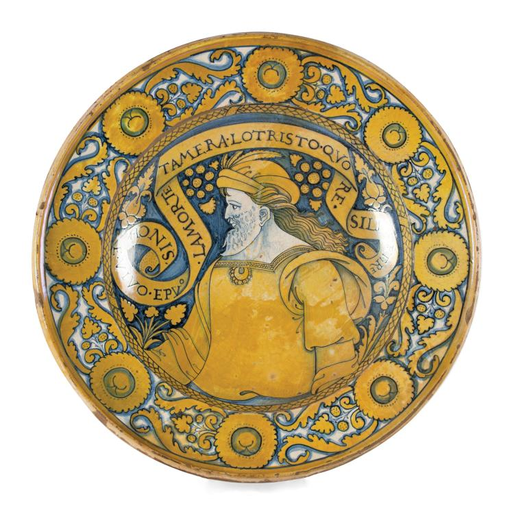 A plate, Deruta, Giacomo Mancini (known as
