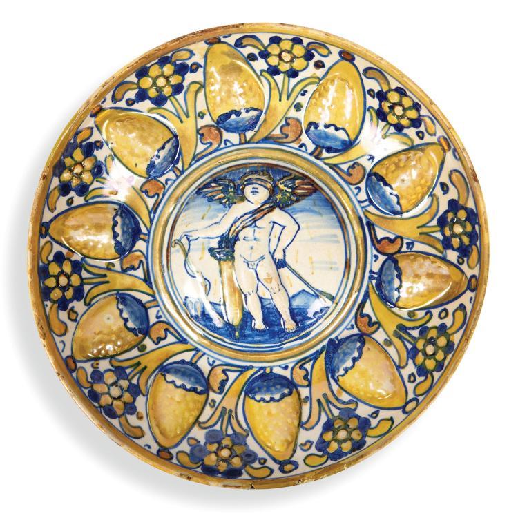 A bowl, Gubbio, master Giorgio workshop, 1535-40
