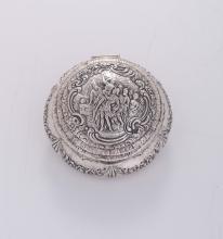 Scatola porta cipria in argento sterling, USA XX secolo,