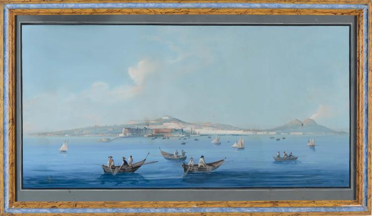 Anonimo del xix secolo veduta di napoli del mare for Piani di fattoria del 19 secolo