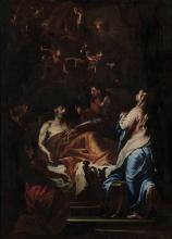 Giovanni Camillo Sagrestani (Firenze 1660-1731), cerchia di, Transito di San Giuseppe
