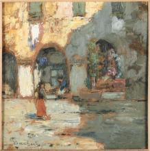 Giuseppe Sacheri (1863 - 1950), Donne sotto gli archi