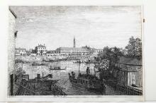 Giovanni Antonio Canal detto Il Canaletto (Venezia 1697-1768), Alle Porte del Dolo