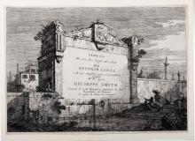 """Giovanni Antonio Canal detto Il Canaletto (Venezia 1697-1768), Frontespizio della """"Serie di vedute"""""""
