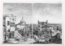 Giovanni Antonio Canal detto Il Canaletto (Venezia 1697-1768), La casa con data - La casa con il peristilio.