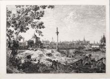 Giovanni Antonio Canal detto Il Canaletto (Venezia 1697-1768), Veduta fantastica (immaginaria) di Padova.