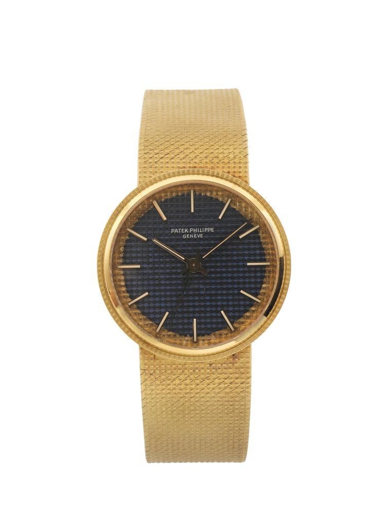 Patek philippe geneve 18k yellow gold self winding wristw for Patek philippe geneve