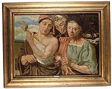 "Emilio Notte (Ceglie Messapica 1891 - Napoli 1982) ""Le tre parche"""