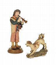Bambino con flauto e cane, Napoli, XIX secolo