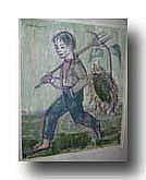 LAAGLAND LUDO (1923 - ) Boerenknaap met