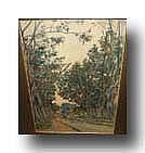 HANNON THEODORE (1851 - 1916) Bosgezicht. Vue de