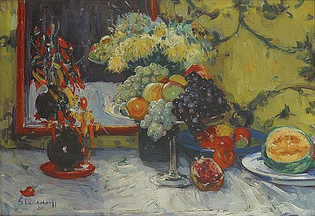 GLANSDORFF HUBERT (1877 - 1963) Stilleven met