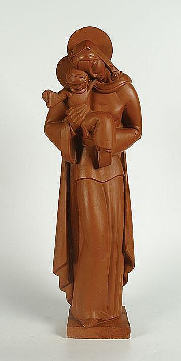 POELS ALBERT (1903 - 1984) Madonna met kind.