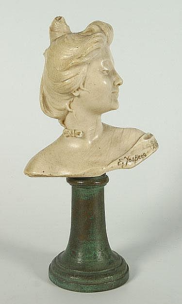 JESPERS EMILE (1862 - 1918) Dame met strik. Dame