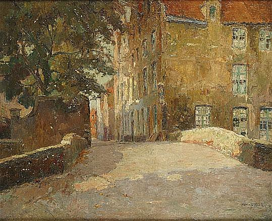 VAN NESTE ALFRED (1874 - 1969) Zicht op Brugge.