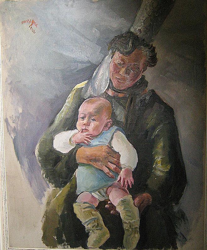 DUPAGNE ADRIEN (1889 - 1980) Moeder en kind.