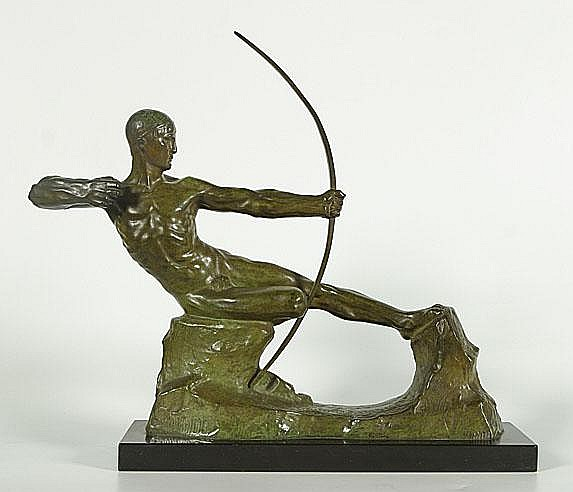 DEMANET VICTOR (1895 - 1964) De boogschutter.
